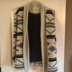 BB Dakota tribal print wool cardigan/sweater